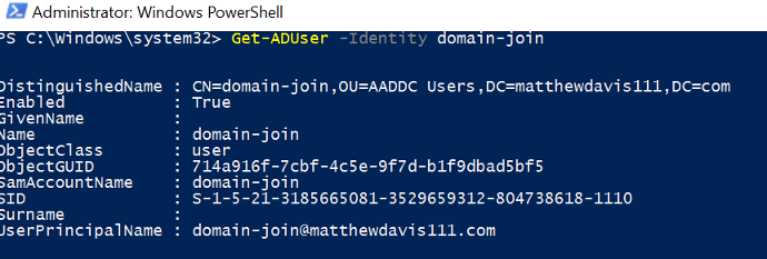 get-aduser with PowerShell