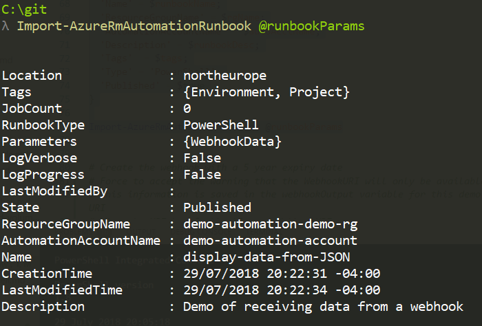 Import the PowerShell runbook