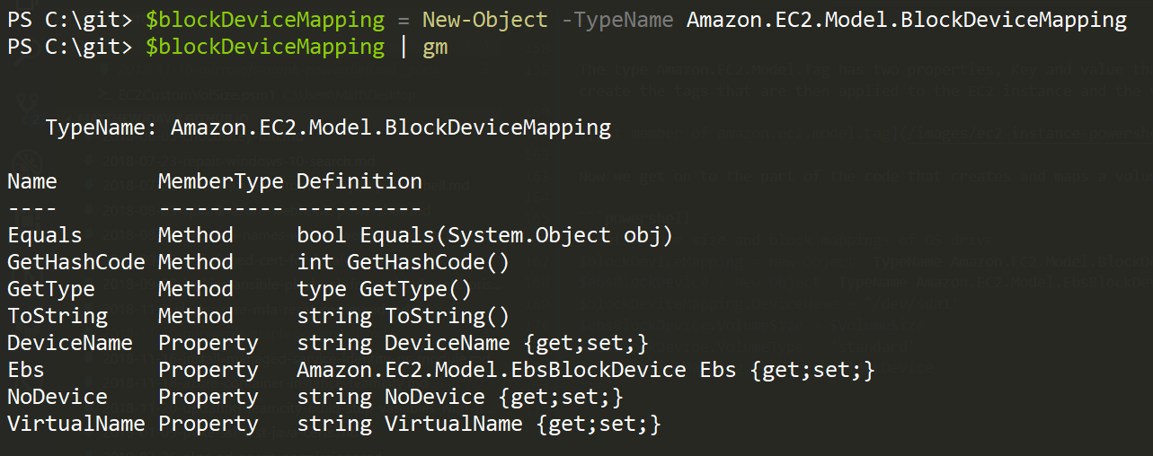 get member of amazon.ec2.model.blockdevicemapping