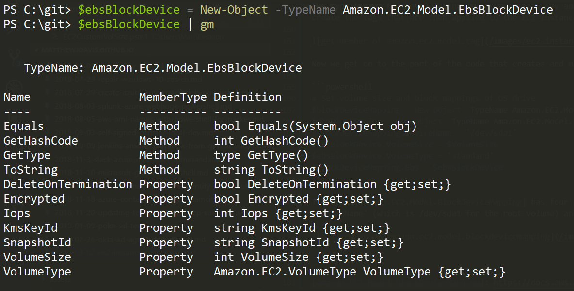 get member of amazon.ec2.model.ebsblockdevice