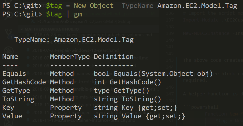 get member of amazon.ec2.model.tag