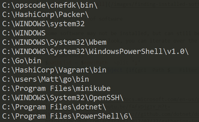 Finding installed software with PowerShell on Windows