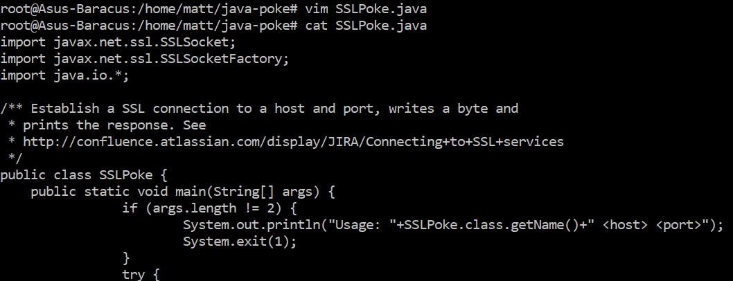 Use SSL Poke to test Java SSL connection - matthewdavis111
