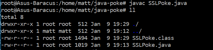 Running javac with the class file output