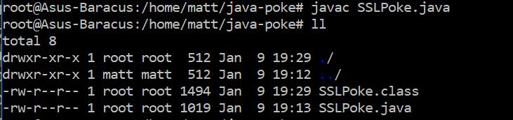 Use SSL Poke to test Java SSL connection - matthewdavis111
