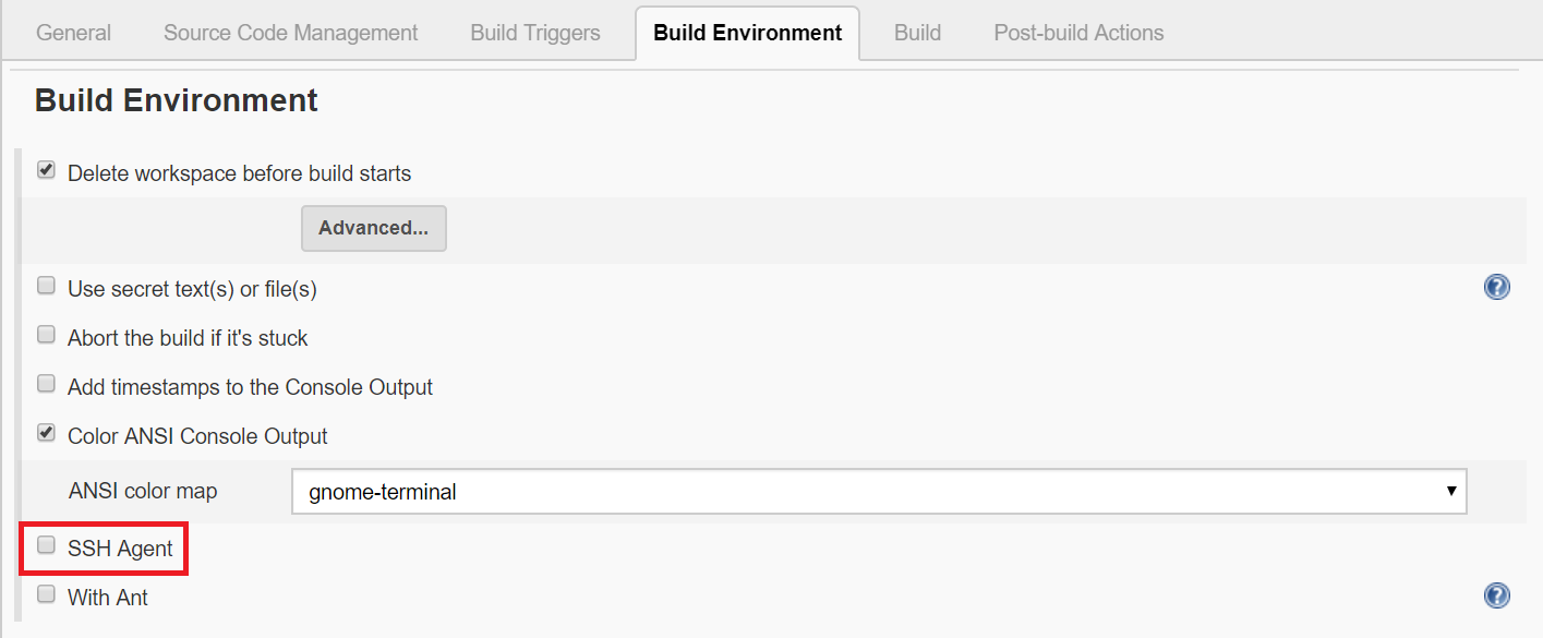 Plugin menu for jenkins, search for ssh agent