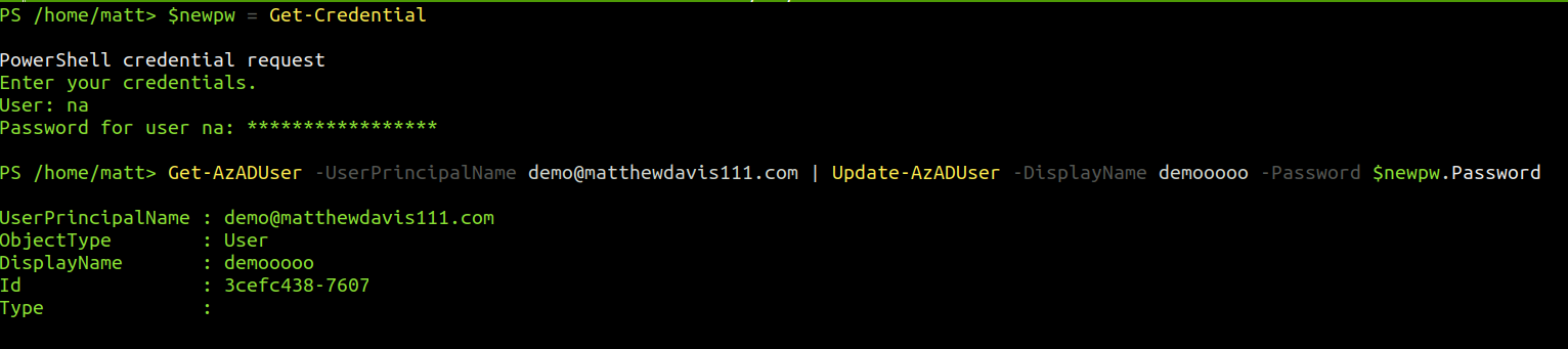 Use PowerShell Core and the AZ module to manage Azure Active