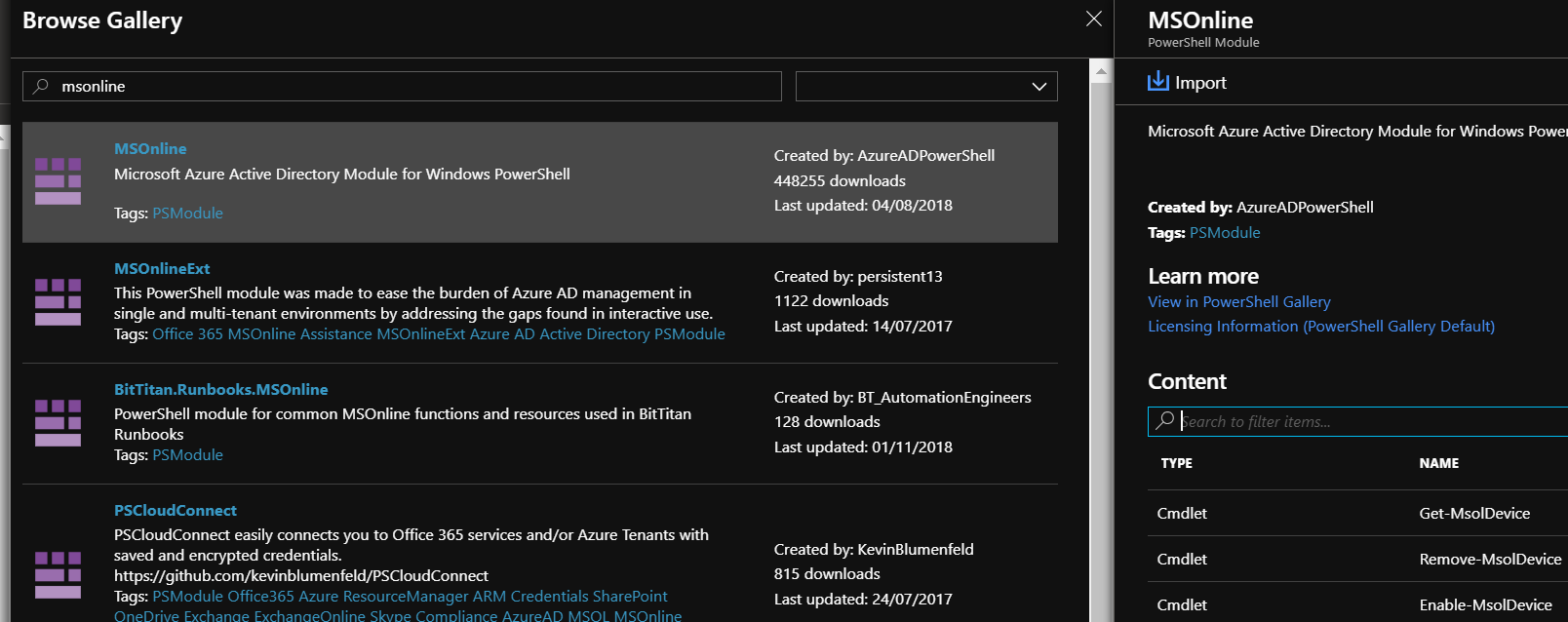Azure automation credentials